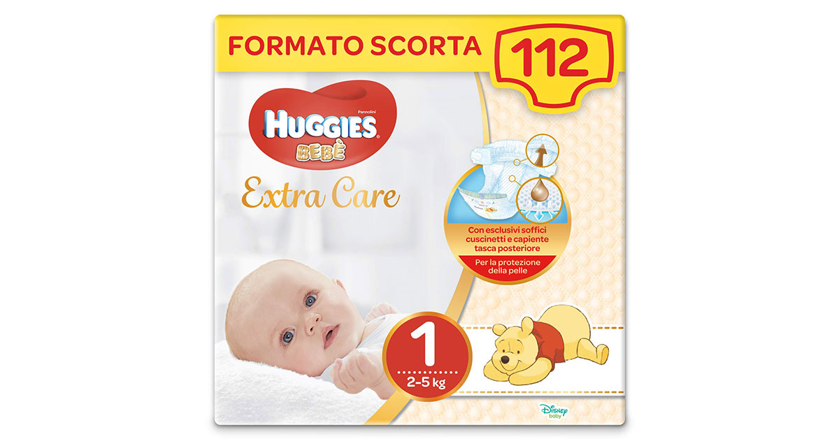 You are currently viewing Pannolini Huggies taglia 1