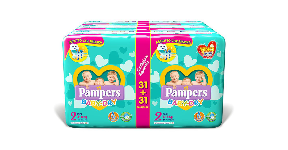 Pannolini Pampers Baby Dry Taglia 2