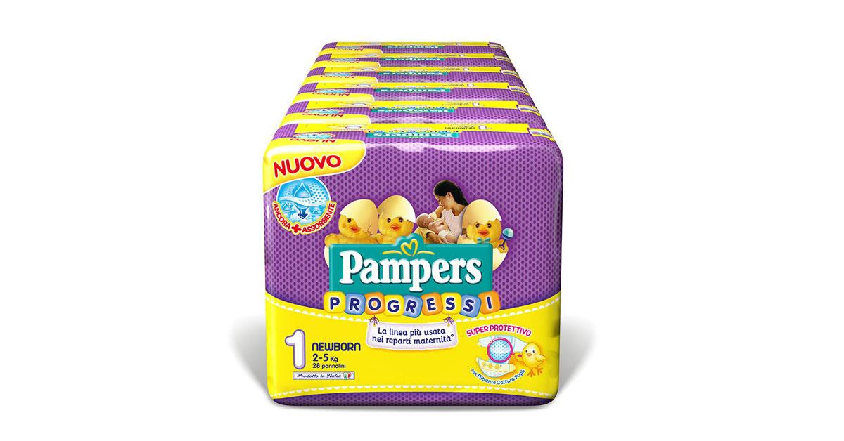 Pannolini Pampers Progressi Taglia 1